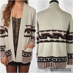 UO Staring At Stars XS Mixed Stitch Cardigan Sweater Southwest Urban Outfitters